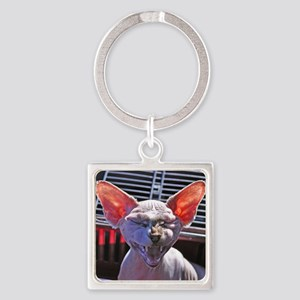 Little George Hairlesson Square Keychain