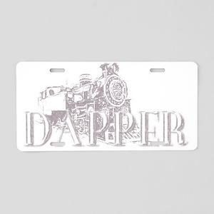 Dapper Steam Engine Grey Fo Aluminum License Plate