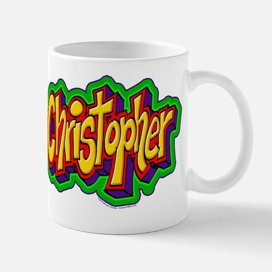 Christopher Graffiti Letters Name Desig Mug