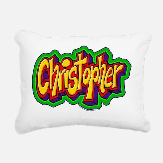 Christopher Graffiti Let Rectangular Canvas Pillow