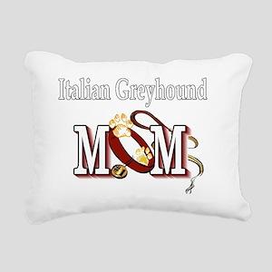Italian Greyhound Mom Rectangular Canvas Pillow