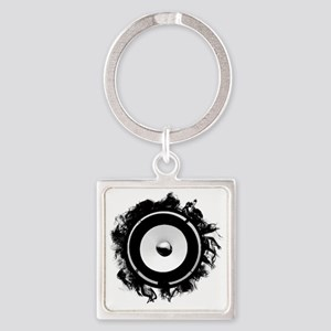 Subwoofer art Square Keychain