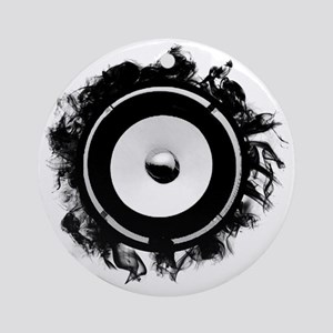 Subwoofer art Round Ornament