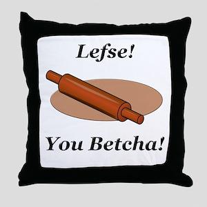 Lefse You Betcha Throw Pillow