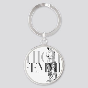 High Femme Aphrodite High Fashion Round Keychain