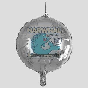 Narwhal Mylar Balloon