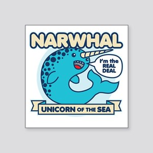 """Narwhal Square Sticker 3"""" x 3"""""""