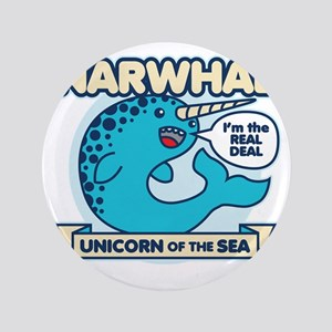 "Narwhal 3.5"" Button"