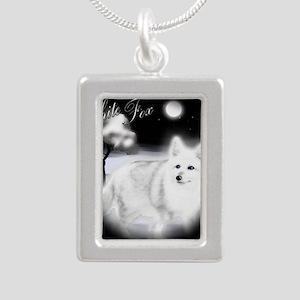 White Fox copy Silver Portrait Necklace