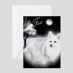 White Fox copy Greeting Card