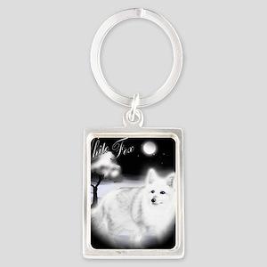 White Fox copy Portrait Keychain