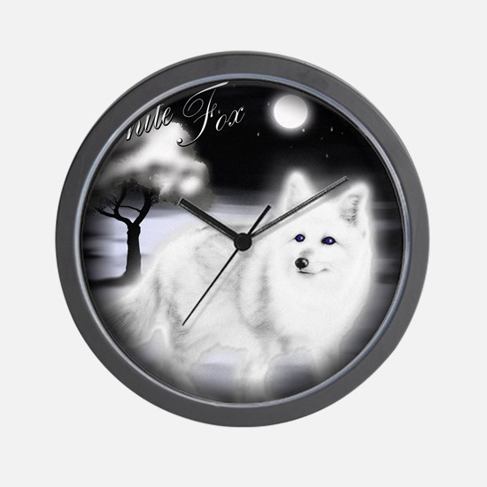 White Fox copy Wall Clock