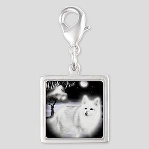 White Fox copy Silver Square Charm