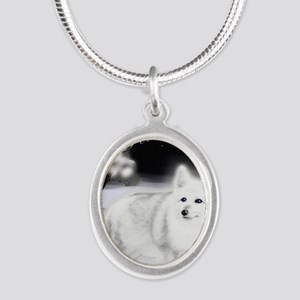 White Fox copy Silver Oval Necklace