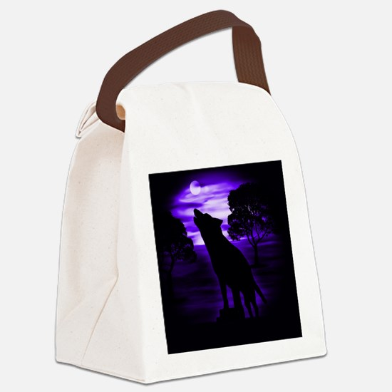 Wolf Howling copy Canvas Lunch Bag