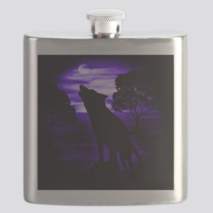 Wolf Howling copy Flask