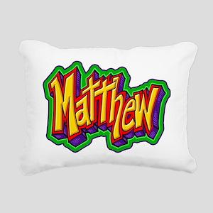 Matthew Graffiti Letters Rectangular Canvas Pillow