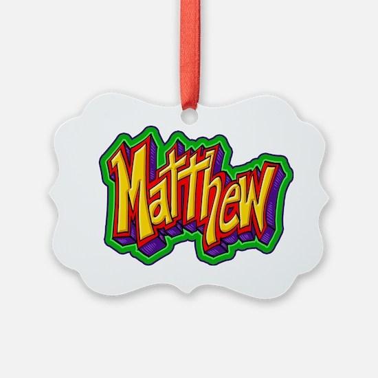Matthew Graffiti Letters Name Des Ornament