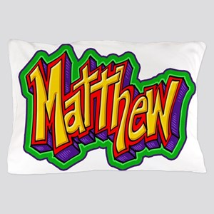 Matthew Graffiti Letters Name Design Pillow Case