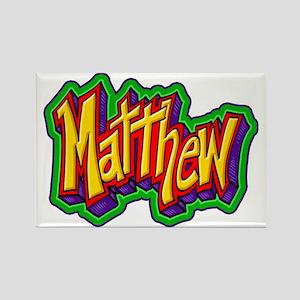 Matthew Graffiti Letters Name Des Rectangle Magnet
