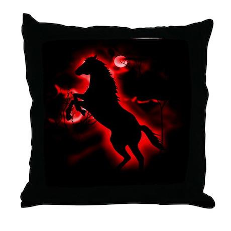 Fire Horse Throw Pillow