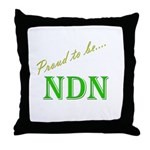 Proud to be NDN Throw Pillow