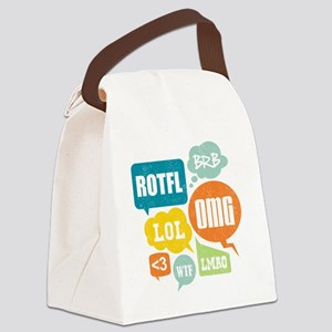 Text Shortcuts Canvas Lunch Bag