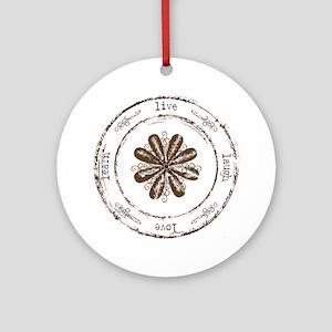 live, laugh, love, learn Ornament (Round)