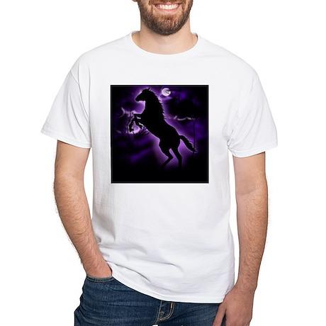 Lightning Horse White T-Shirt
