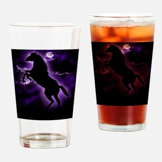 Lightning Horse Drinking Glass