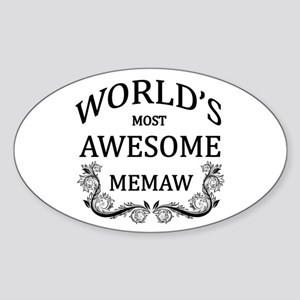 World's Most Awesome Memaw Sticker (Oval)