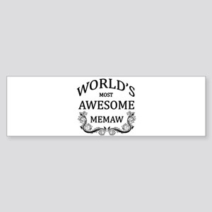 World's Most Awesome Memaw Sticker (Bumper)