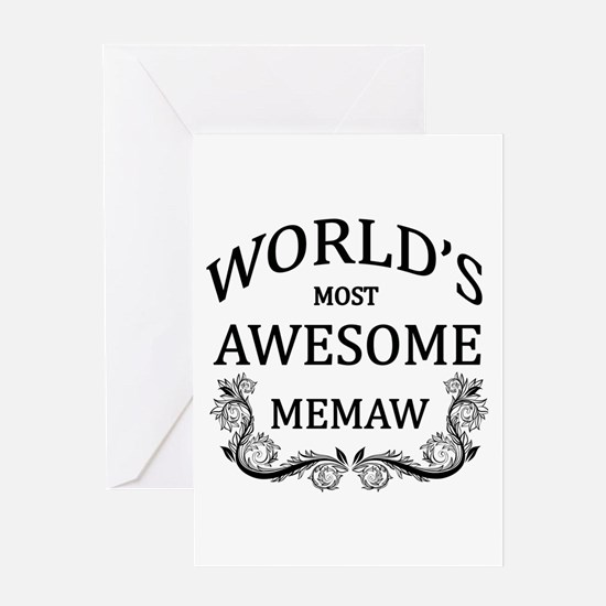 World's Most Awesome Memaw Greeting Card