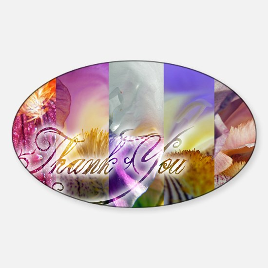 Thank You too Sticker (Oval)