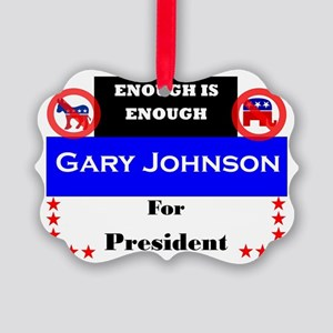 Gary Johnson for President Picture Ornament