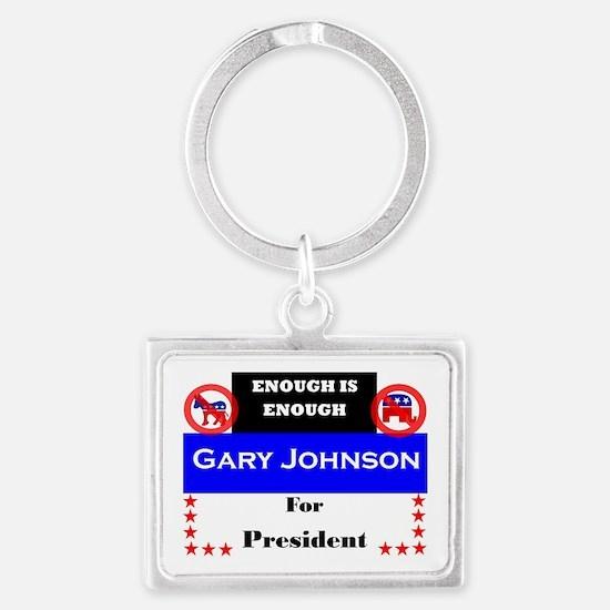 Gary Johnson for President Landscape Keychain