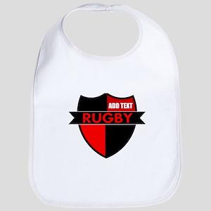 Rugby Shield Black Red Bib