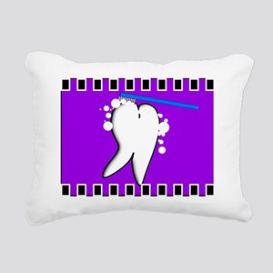 tooth blanket 5 purple Rectangular Canvas Pillow