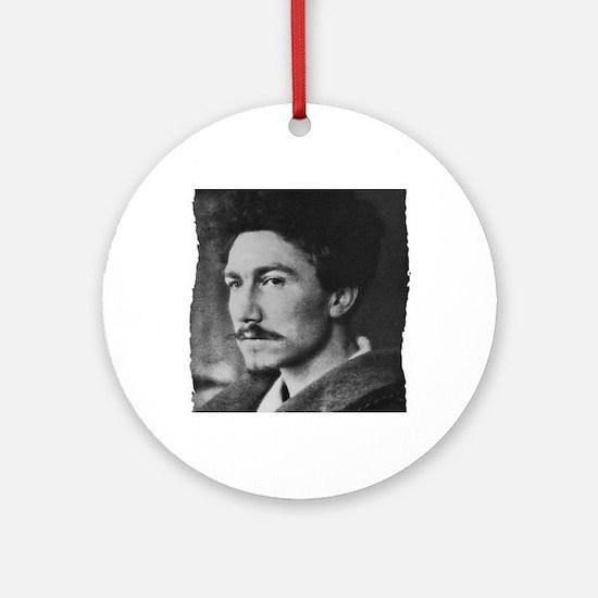 Ezra Pound Round Ornament