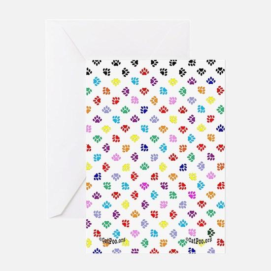 PawprintsFliFlops Greeting Card