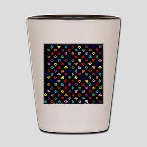 PawPrintRBblackFlipFlops-a Shot Glass