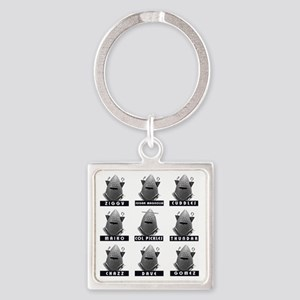 Invasion of the Neptune Men Square Keychain