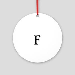 The F Bomb White Round Ornament