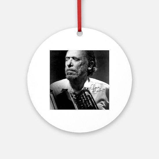 Charles Bukowski Round Ornament
