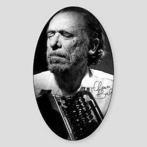 Charles Bukowski Sticker (Oval)