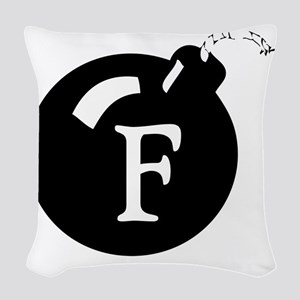 The F Bomb Woven Throw Pillow