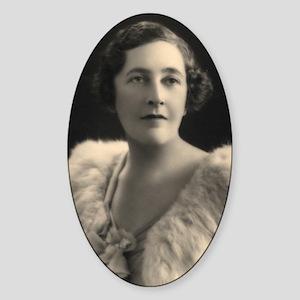 Agatha Cristie Sticker (Oval)
