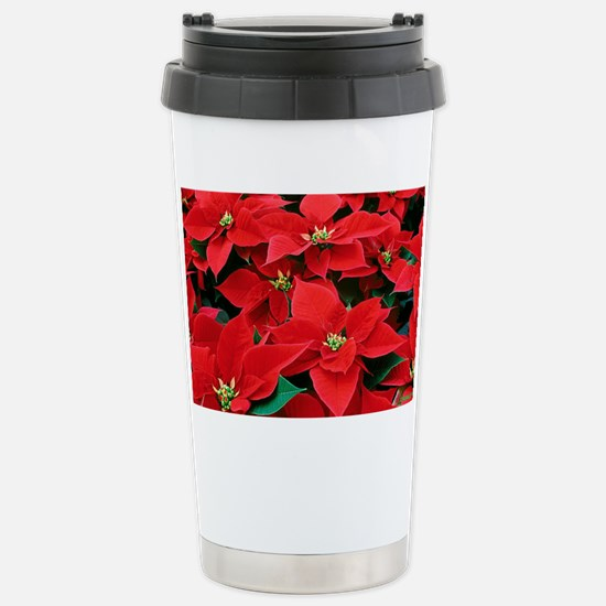 PoinsettiaShoulderbag-a Stainless Steel Travel Mug
