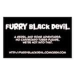 Furry Black Devil Rectangle Sticker