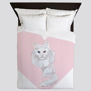 I Love Turkish Angoras Queen Duvet